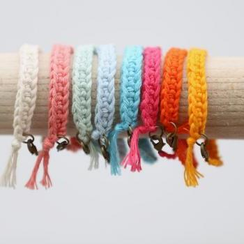 Arm Candy Friendship Bracelet - Spring/Summer Arm Candy in Pastel Colours - Pastel Arm Candy - 1 bracelet